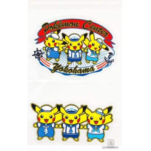 Pokemon Center Yokohama 2018 Renewal Opening Campaign Pikachu Set Of 2 Large Stickers