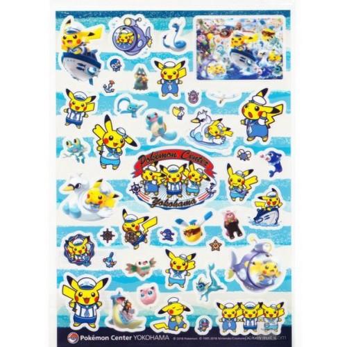 Pokemon Center Yokohama 2018 Renewal Opening Campaign Pikachu Lapras Vaporeon & Friends Sticker Sheet
