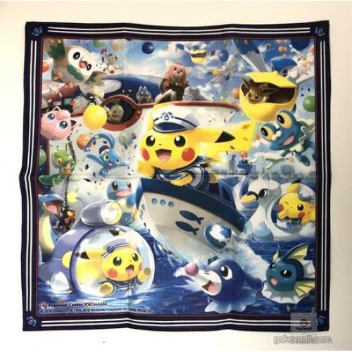 Pokemon Center Yokohama 2018 Renewal Opening Campaign Pikachu Lapras Vaporeon & Friends Cloth Handkerchief