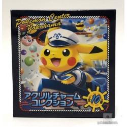 Pokemon Center Yokohama 2018 Renewal Opening Campaign Jigglypuff Rowlet Acrylic Keychain Charm (Version #5)