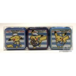 Pokemon Center Yokohama 2018 Renewal Opening Campaign Pikachu Set Of 3 Mini Candy Collector Tins