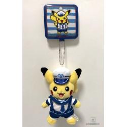 Pokemon Center Yokohama 2018 Renewal Opening Campaign Pikachu Mascot Plush Keychain (Version #1)