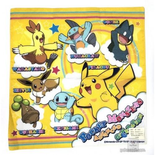 Pokemon Center 2005 Combusken Bonsly Munchlax & Friends Cloth Handkerchief