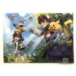 Pokemon Center 2018 Let's Go Pikachu & Eevee Campaign Ratatta Eevee & Friends A4 Size Clear File Folder (Version #1)