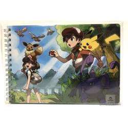 Pokemon Center 2018 Let's Go Pikachu & Eevee Campaign Ratatta Eevee & Friends Spiral Notebook