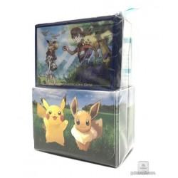 Pokemon Center 2018 Let's Go Pikachu & Eevee Campaign Ratatta Eevee & Friends Large Size Deck Box + Deck Sleeves Set