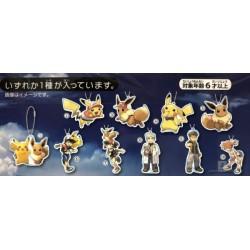 Pokemon Center 2018 Let's Go Pikachu & Eevee Campaign Pikachu Acrylic Keychain Charm (Version #4)
