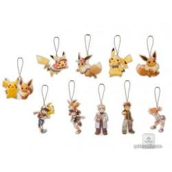 Pokemon Center 2018 Let's Go Pikachu & Eevee Campaign RANDOM Acrylic Keychain Charm