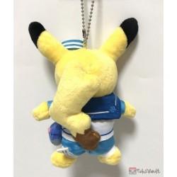 Pokemon Center Yokohama 2018 Renewal Opening Campaign Pikachu Mascot Plush Keychain (Version #3)