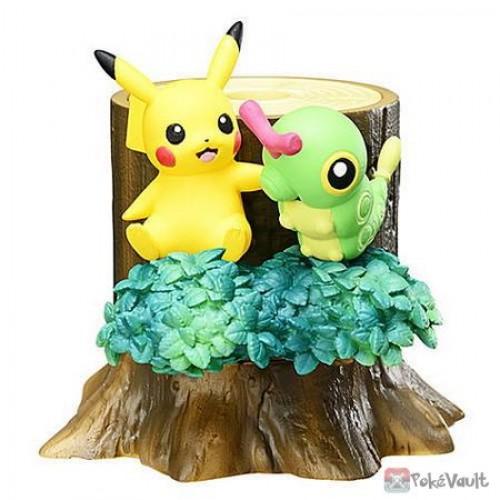 Pokemon Center 2018 Re-Ment Pokemon Forest Vol. 2 Pikachu Caterpie Figure (Version #1)