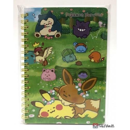 Pokemon Center 2018 Pokemon Yurutto Campaign #2 Eevee Pikachu Snorlax & Friends Spiral Notebook