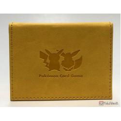 Pokemon Center 2018 Kanto Gym Badges Large Size Leather Deck Box (Yellow Version)