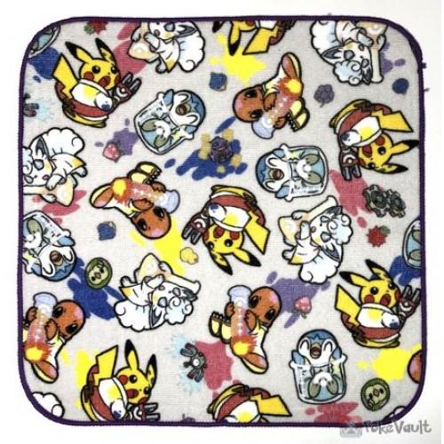 Pokemon Center 2018 Robo Pikachu Campaign Alolan Vulpix Charmander & Friends Mini Hand Towel (Version #1)