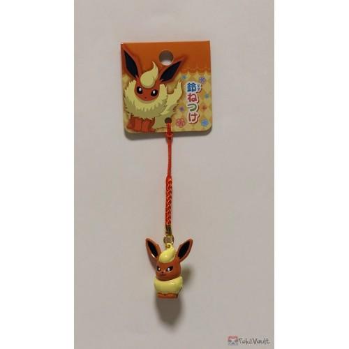 Pokemon Center 2018 Flareon Mobile Phone Strap Bell Charm