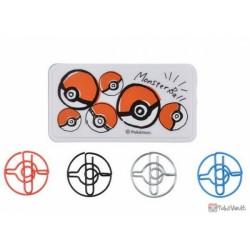 Pokemon Center 2018 Pokeball Campaign Paper Clips With Case