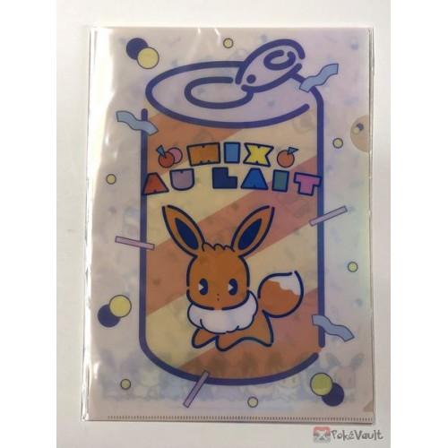 Pokemon Center 2019 Mix Au Lait Campaign Eevee Espeon Flareon Glaceon Jolteon Leafeon Sylveon Umbreon Vaporeon Set of 2 A4 Size Clear File Folders