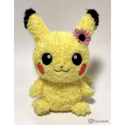 Pokemon 2015 Sekiguchi Pikachu Female Fluffy Plush Toy