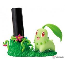 Pokemon Center 2019 Re-Ment Desktop Figure Series #3 Chikorita (Inkan Stamp Stand)