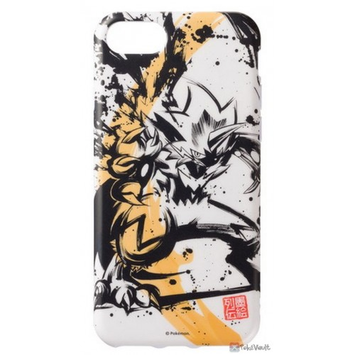 Pokemon Center 2019 Sumi-E Retsuden Japanese Ink Art Campaign Zeraora iPhone 6/6s/7/8 Mobile Phone Soft Cover