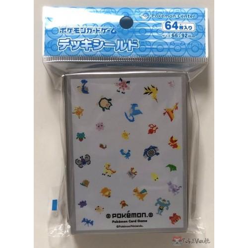 Pokemon Center 2019 Dot Sprite Articuno Lapras Dragonite & Friends Set Of 64 Deck Sleeves (White Version)