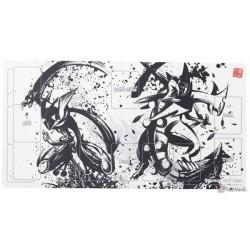 Pokemon Center 2019 Sumi-E Retsuden Japanese Ink Art Campaign #1 Greninja Mega Sceptile Official Premium Half Rubber Playmat