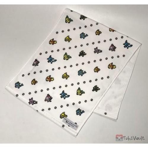 Pokemon Center 2019 Eevee Dot Collection Campaign Eevee Espeon Flareon Glaceon Jolteon Leafeon Sylveon Umbreon Vaporeon Face Towel