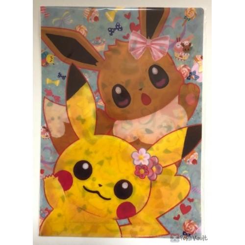 Pokemon Center 2018 Pikachu Eevee A4 Size Clear File Folder