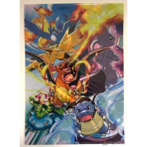 Pokemon Center 2018 Charizard Mewtwo Zapdos Articuno Moltres & Friends A4 Size Clear File Folder