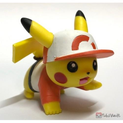 Pokemon 2019 Takara Tomy Let's Go Pikachu & Eevee Series Pikachu Stand Figure (Version #3 Sportswear Wear)