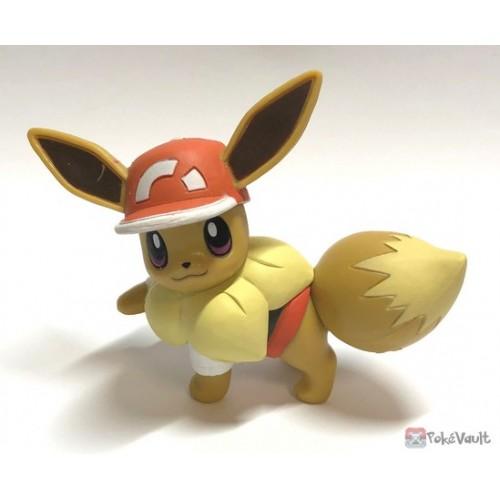 Pokemon 2019 Takara Tomy Let's Go Pikachu & Eevee Series Eevee Stand Figure (Version #4 Sportswear)