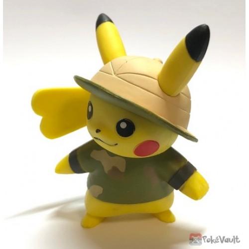 Pokemon 2019 Takara Tomy Let's Go Pikachu & Eevee Series Pikachu Stand Figure (Version #7 Safari Costume)