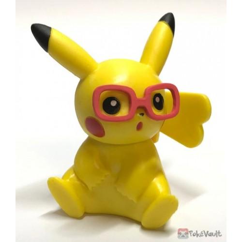 Pokemon 2019 Takara Tomy Let's Go Pikachu & Eevee Series Pikachu Stand Figure (Version #9 Red Glasses)