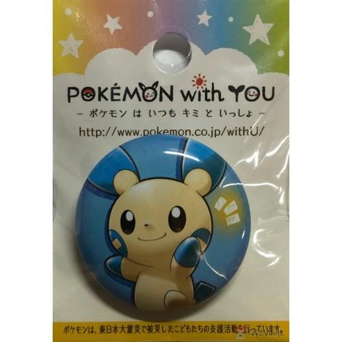 Pokemon Center 2019 Pokemon With You Series #14 Thank You For Cheering Minun Metal Button