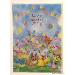 Pokemon Center 2019 Easter Garden Party Campaign Pikachu Eevee Minun Plusle & Friends Set Of 2 A4 Size Clear File Folders