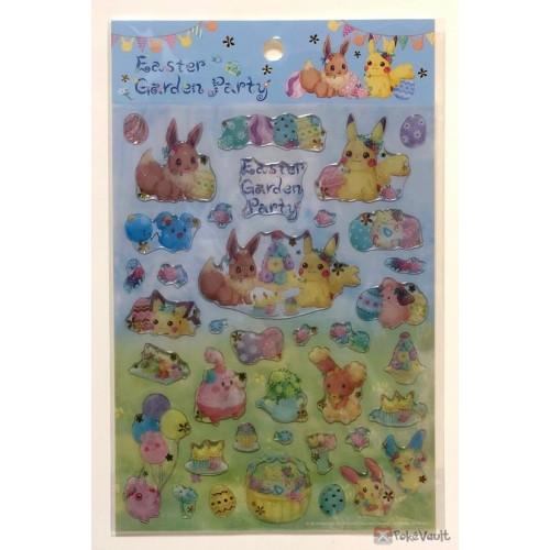 Pokemon Center 2019 Easter Garden Party Campaign Pikachu Eevee Togepi Buneary & Friends 3D Sticker Sheet