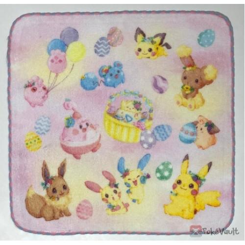 Pokemon Center 2019 Easter Garden Party Campaign Pikachu Eevee & Friends Mini Hand Towel