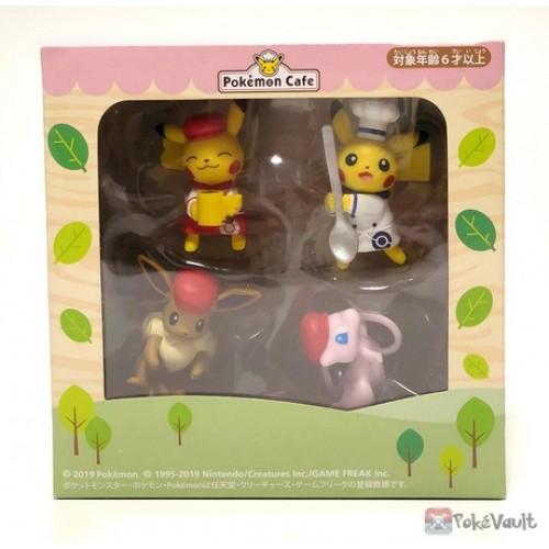 Pokemon Cafe Limited PUTITTO Series Pokemon Figure set of 4 Pikachu Eevee Mew