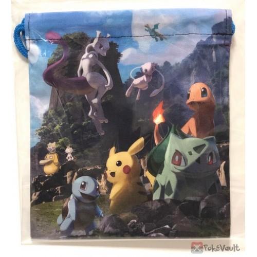 Pokemon Center 2019 Mewtwo & Mew Campaign Pikachu Bulbasaur & Friends Medium Size Drawstring Dice Bag