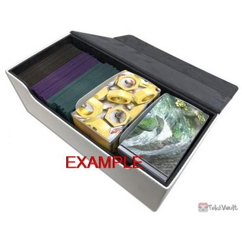 Pokemon Center 2019 High Class Long Style White Leather Deck Storage Box