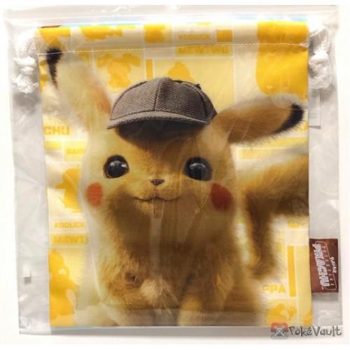 Pokemon Center 2019 Detective Pikachu Movie Pikachu Mr. Mime Psyduck Medium Size Drawstring Dice Bag
