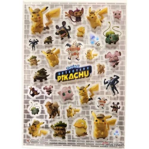 Pokemon Center 2019 Detective Pikachu Movie Arcanine Ludicolo Machamp & Friends Sticker Sheet