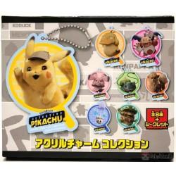Pokemon Center 2019 Detective Pikachu Movie Snubbull Acrylic Plastic Character Keychain (Version #4)
