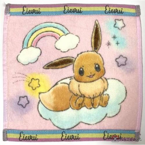 Pokemon Center 2019 Rainbow Pikachu & Eevee Campaign Eevee Mini Hand Towel