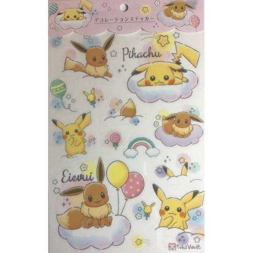 Pokemon Center 2019 Rainbow Pikachu & Eevee Campaign Decoration Sticker Sheet