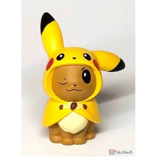 Pokemon Center 2019 Fan Of Pikachu & Eevee Campaign Poncho Eevee Pikachu Gashapon Figure (Version #2)
