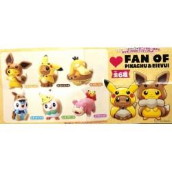 Pokemon Center 2019 Fan Of Pikachu & Eevee Campaign Slowpoke Pikachu Gashapon Figure (Version #6)