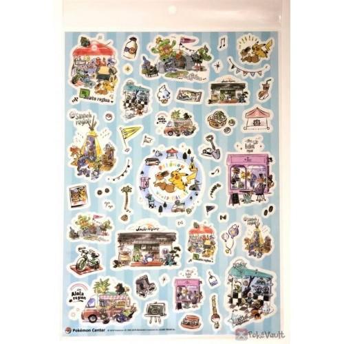 Pokemon Center 2019 Pokemon World Market Campaign Drifloon Totodile & Friends Large Sticker Sheet