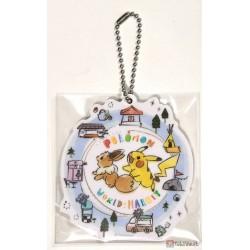 Pokemon Center 2019 Pokemon World Market Campaign Eevee Pikachu Acrylic Plastic Character Keychain (Version #8)