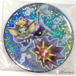 Pokemon Center 2019 Oceanic Operetta Campaign Vaporeon Starmie Large Size Sparkling Metal Button (Version #2)
