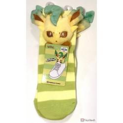 Pokemon Center 2019 Mascot Plush Leafeon Adult Short Socks (Size 23-25cm)